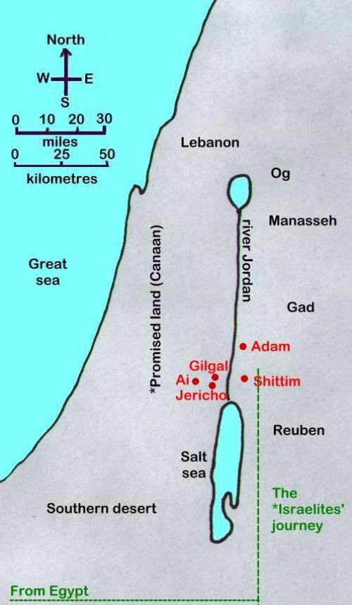 Book of Joshua - Old Testament maps
